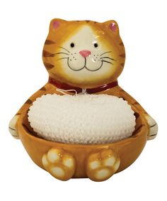 Loving this Cat Scrubby Holder on #zulily! #zulilyfinds