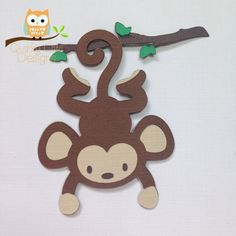 Safari Animal Cut Outs Monkey Jungle Animal Cardstock Die 2nd Birthday Party For Boys, Safari Birthday Party, Jungle Party, Monkey Crafts, Animal Cutouts, Animal Templates, Cute Monkey, Classroom Crafts, Fun Crafts For Kids