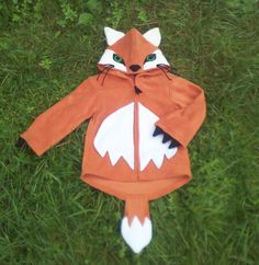 FOX HOODIE  Woodland Fox Creature Animal by RaggtaggPixie on Etsy, £35.00