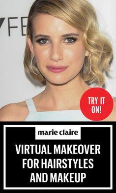 Virtual Makeover For Hairstyles and MakeupGet a virtual makeover. Try on celebrity hairstyles, change your hair color, and experiment with new makeup trends — even get a virtual face-lift! Virtual Haircut, Virtual Hairstyles Free, Easy Hairstyles For Long Hair, Modern Hairstyles, Trending Hairstyles, Celebrity Hairstyles, Beautiful Hairstyles, Bob Hairstyles, How To Grow Natural Hair