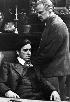 The Godfather Poster, Vito and Michael Corleone, Father and Son, Italian, Gangster