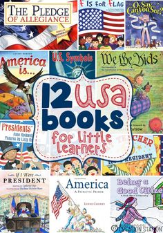 Mrs.Jones' Creation Station - Children's Books about America  to expose little learners to history, symbols, customs, etc.