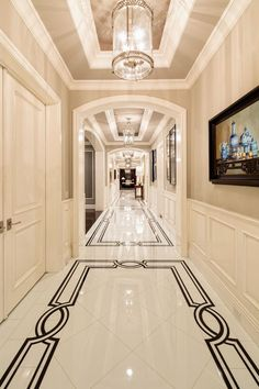 Nice Marble Floor Design Pictures Bedroom 45 With Additional Furniture Home Design Ideas with Marble Floor Design Pictures Bedroom : Decor Ideas Luxury Interior, Interior Design, Modern Classic Interior, Plafond Design, Regal Design, Design Design, Design Ideas, Hallway Designs, Hallway Ideas