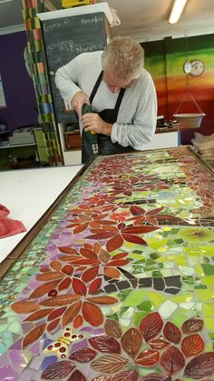 """How to Mosaic"" outdoor tables, chairs, mirrors, planters, panels, mosaic ideas and inspiration."