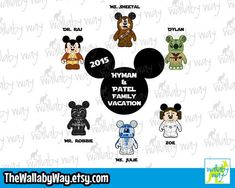 Star Wars Characters - Disney Family Vacation Shirt Design or Clipart Family Vacation Shirts, Disney Star Wars, Star Wars Characters, Disney Family, Spring Break, Shirt Designs, Clip Art, Vacation Ideas, Messages