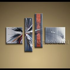 Beautiful Contemporary Wall Art High Quality Oil Painting Gallery Stretched Abstract. This 4 panels canvas wall art is hand painted by Kerr.Donald, instock - $172. To see more, visit OilPaintingShops.com