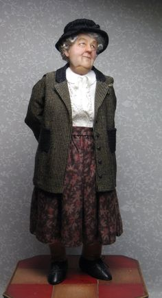 Miss Marple Miniature Doll by Sharon Cariola
