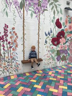 """""""Everything that is real was imagined first"""" ~The Velveteen Rabbit How gorgeous is this space for children to walk through or sit for awhile and let their imagination bloom. Learning Through Play, Early Childhood, Ivy, Imagination, Rabbit, Recycling, Bloom, Quilts, Space"""