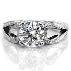 Design 2370 - Knox Jewelers - Minneapolis Minnesota - Split Shank Engagement Rings - Large Image