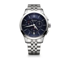Victorinox Swiss Army Alliance Chronograph Stainless Steel Bracelet Watch - Silver N/A Swiss Made Watches, Swiss Army Watches, Stainless Steel Bracelet, Stainless Steel Case, Casual Watches, Watches For Men, Wrist Watches, Swatch, Skeleton Watches