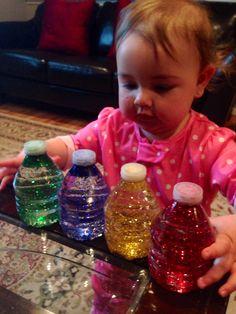 Mini glitter sensory bottles for babies