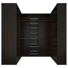 PAX white stained oak effect, Corner wardrobe, cm - IKEA Walk In Closet Design, Wardrobe Design, Closet Designs, Ikea Pax Corner Wardrobe, Bedroom Wardrobe, Corner Closet Organizer, Pax Planer, Armoire D'angle, Modern Bathrooms