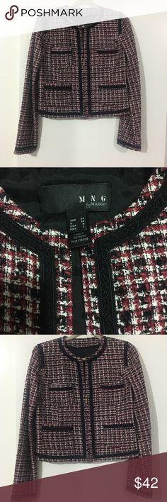 Mango blazer jacket Mango zipper blazer in black, white, dark red colors mango  Jackets & Coats Blazers