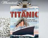 Titanic scrabble tile pendant