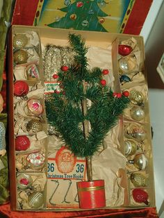 Ahhhh, so that is how they came! I've got some of these vintage ornaments.