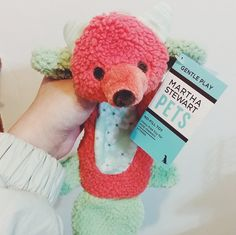 A new pup playmate just hit the shelves. #MarthaStewartPets Bear & Bunny Flattie Dog Toy (IG pic @gongjubi) only @petsmartcorp