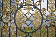 Ornamental gate to Catherine Palace, Tsarskoye Selo.
