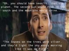 Beautiful quote. < agreed. one of my favorites from doctor who.