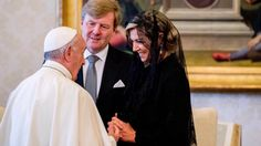 Pope Francis Meets King Willem  Alexander and Queen Maxima of The Nether...