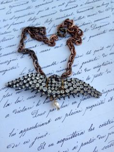 Assembled altered 1900s prong set bird pendant by thejunkdiva, $45.00