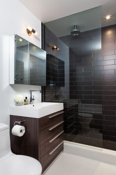 "here are some small bathroom design tips you can apply to maximize that bathroom space. Checkout Of The Best Modern Small Bathroom Design Ideas"". Bathroom Design Small Modern, Bathroom Interior Design, Trendy Bathroom, Bathroom Designs Images, Bathroom Mirror, Apartment Bathroom, Bathroom Design Small, Modern Interior, Tile Bathroom"
