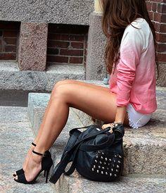 Cute pink gradient shirt