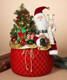 Incorporate a traditional symbol of the season into your décor with this highly detailed statue that depicts Saint Nick. Integrated lighting gives off a festive glow. Christmas Decorations, Christmas Ornaments, Holiday Decor, Santa Gifts, Christmas Countdown, Holiday Festival, Saint Nick, Decorative Accessories, Xmas