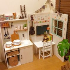 kemurin-monrouさんの、DIY,100均,カラーボックス,ままごとキッチン,キッズコーナー,おさるくん,子供部屋,リビング,のお部屋写真