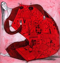 Francesca Carabelli (©2008 artmajeur.com/francescacarabelli) Acrilico e china su carta