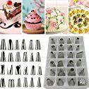 Amazon.com: 24 PCS Icing Piping Nozzles Pastry Tips Cake Sugarcraft Decorating Tool Set AWP: Kitchen & Dining