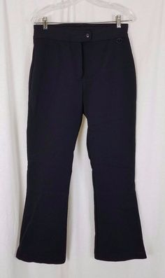 Vintage Womens Black Wool Blend Stirrup Ski Snowboard Winter Stretch Pants 12 #Unbranded #SkiPants