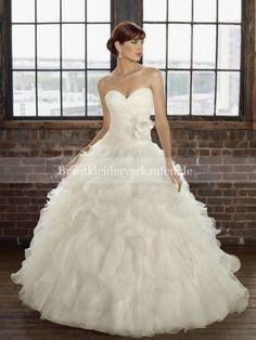 Herz-Ausschnitt Duchesse-Linie Organza Hochzeitskleid