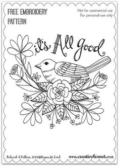 It's All good - Embroidery pattern | Flickr - Photo Sharing!