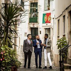 Dandys walking in Alfama, Lisbon.