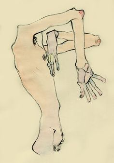 62.+egon+schiele+study+1+(male+nude,+charcoal+&+watercolour).jpg (446×640)