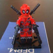 Deadpool Minifigure Minifigures Toys Marvel Super Heroes Custom Lego Lego Deadpool, G Man, Custom Lego, Marvel, Superhero, Toys, Ebay, Fictional Characters, Activity Toys