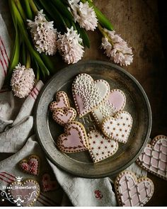 Heart Cookies -  ♡♡♡ Ana Rosa - Colors:  Pink, Brown
