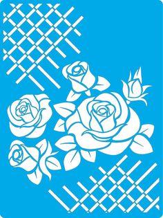 Трафарет - 116.  «Роза прованс»