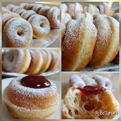 Kovászos szalagos fánk | Betty hobbi konyhája Doughnut, Churros, Food And Drink, Sweets, Food Ideas, Christmas, Basket, Xmas, Gummi Candy