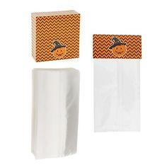MonkeyJack 100pcs Happy Halloween Plastic Food Bags Cookie Chocolate Candy Sweet Packaging Favor Gift Bags - Pumpkin