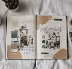 September Bullet Journal Cover Idea Bullet Journal Inspo, Bullet Journal Vintage, Bullet Journal Month, Bullet Journal Cover Ideas, Bullet Journal Lettering Ideas, Bullet Journal Notebook, Bullet Journal Aesthetic, Bullet Journal School, Bullet Journal Ideas Pages