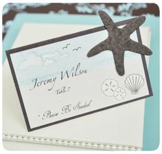 """""""Please Be Seeded"""" Starfish Plantable Seed Place Cards (Set of 12)"""
