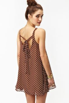 Spotted Scoop Dress