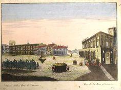Remondini - Veduta della Bra di Verona - 1780 ( colorata a mano e ripetuta in francese)