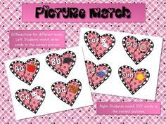 Mrs. Ricca's Kindergarten: More Valentine Literacy Centers {Freebies}