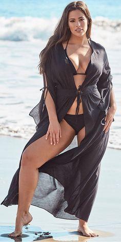30 Plus Size Swimwear Cover-Ups - Plus Size Swimsuits - Alexa Webb - Plus Size Bikini Bottoms, Women's Plus Size Swimwear, Curvy Swimwear, Curvy Outfits, Sexy Outfits, Plus Size Outfits, Curvy Women Fashion, Latest Fashion For Women, Sexy Women