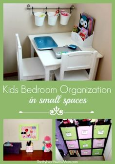 Kids Bedroom Organization in Small Spaces | Thrifty NW Mom