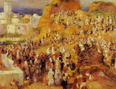 """Arab Festival in Algiers"" (also known as The Casbah), Pierre Auguste Renoir (1881), Musée d'Orsay, Painting - oil on canvas"