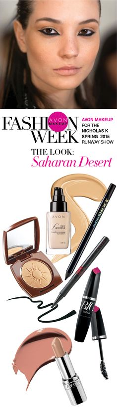 #AvonMakeup's Saharan Desert look was featured on the runwayat New York Fashion Week! #AvonRep CARLAGRIFFIN.AVONREPRESENTATIVE.COM