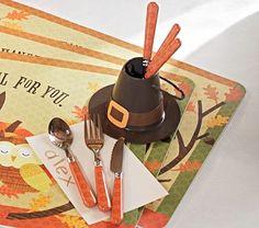 Thanksgiving Utensils Set #PotteryBarnKids